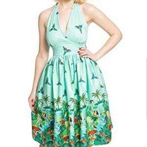 LINDYBOP MARILYN HALTER TIKI DRESS UK18 EUC